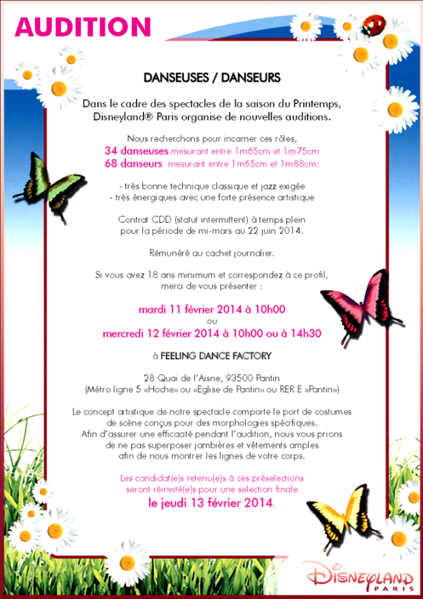 audition-saison-printemps-disneyland-paris