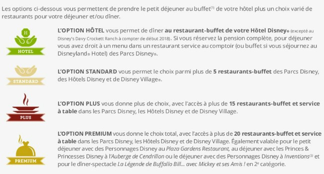 les formules repas de disneyland paris disneyland paris bons plans. Black Bedroom Furniture Sets. Home Design Ideas