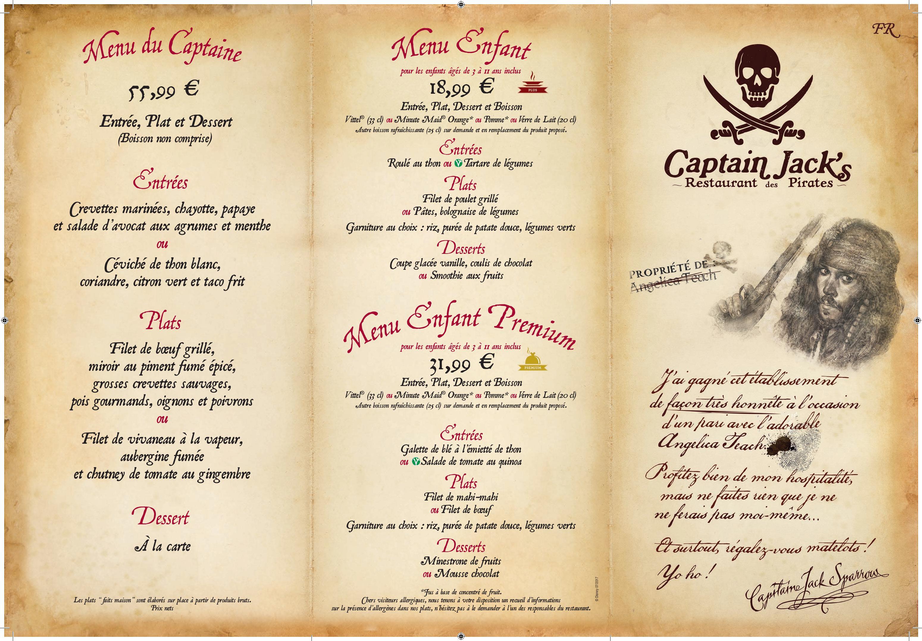 J Sparrow Restaurant Menu