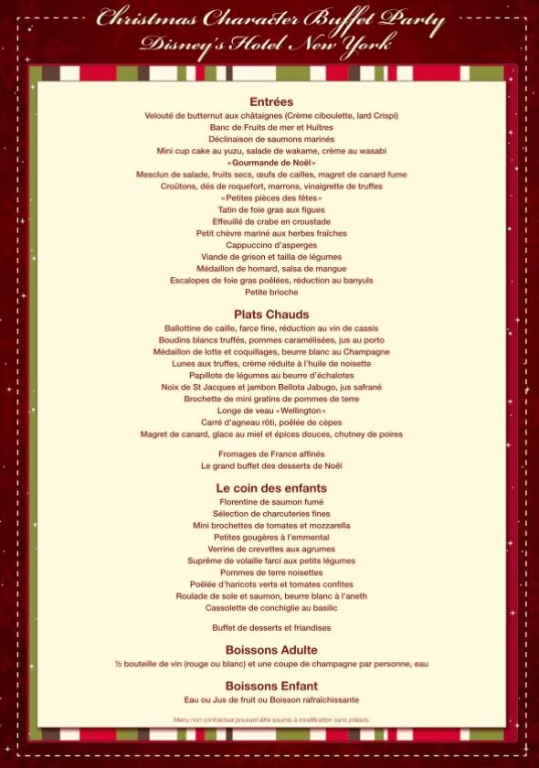 repas de noel disneyland 2018 Disneyland Paris : le Réveillon de Noël ! | Disneyland Paris bons  repas de noel disneyland 2018