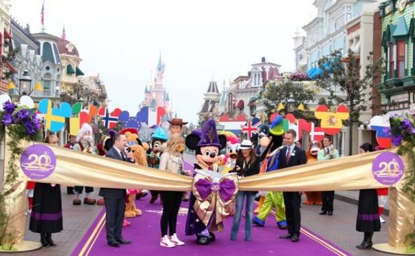 Célébration des 20 ans de Disneyland Paris.