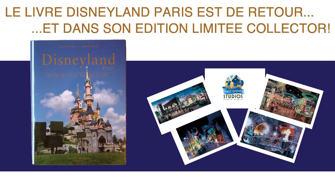 Promotion Livre Disneyland Paris De L Esquisse A La