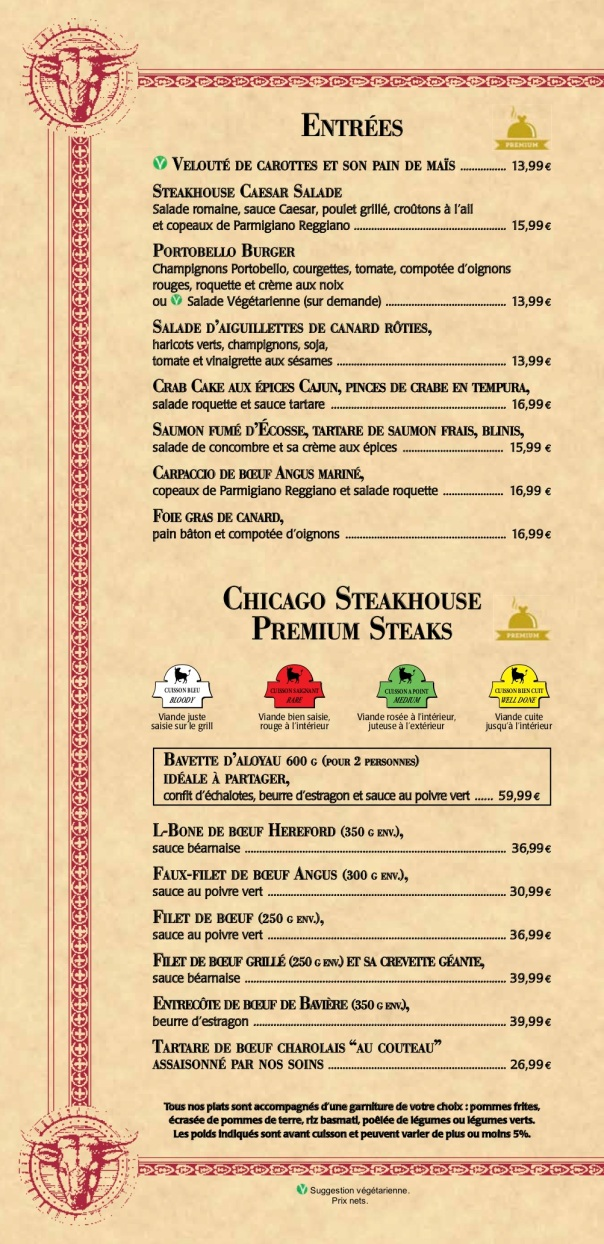 MENU STEACK HOUSE 2