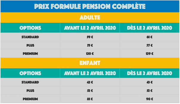 PENSION COMPLETE PRIX